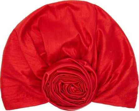 Julia Clancey Edith reversible silk turban hat