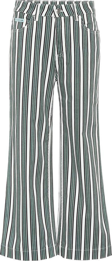 Alexachung Striped cropped jeans
