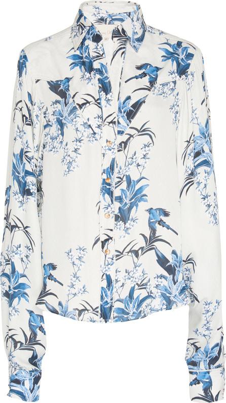 Johanna Ortiz Silk Double Georgette Azalea B Shirt