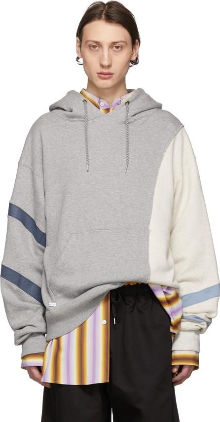 FACETASM Grey Colorblock Hoodie