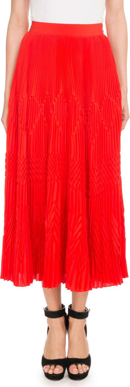 Givenchy Mid-Calf Silk-Blend Plisse Skirt