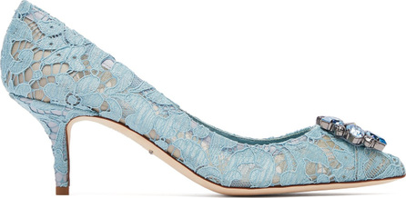 Dolce & Gabbana Bellucci crystal-embellished lace pumps