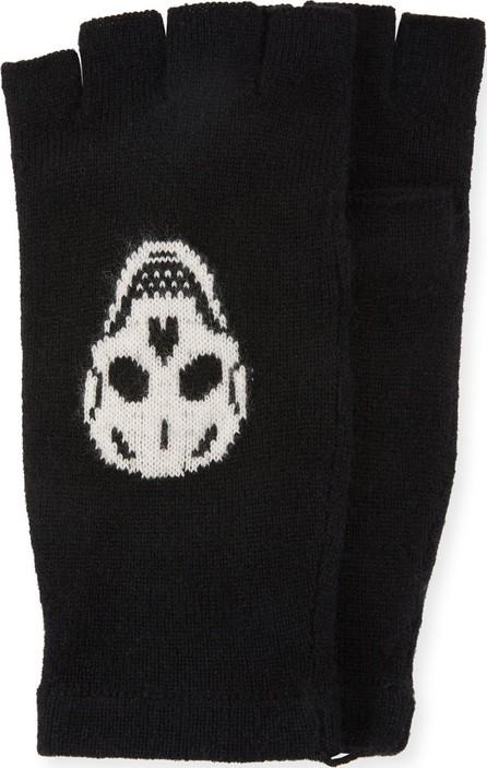 360 Cashmere Ravenna Knit Fingerless Gloves w/ Skulls
