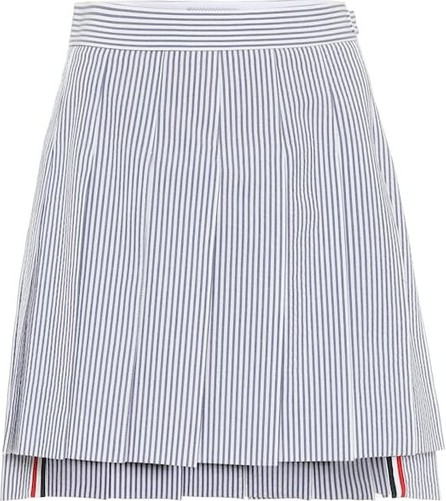 Thom Browne Striped high-rise cotton skirt