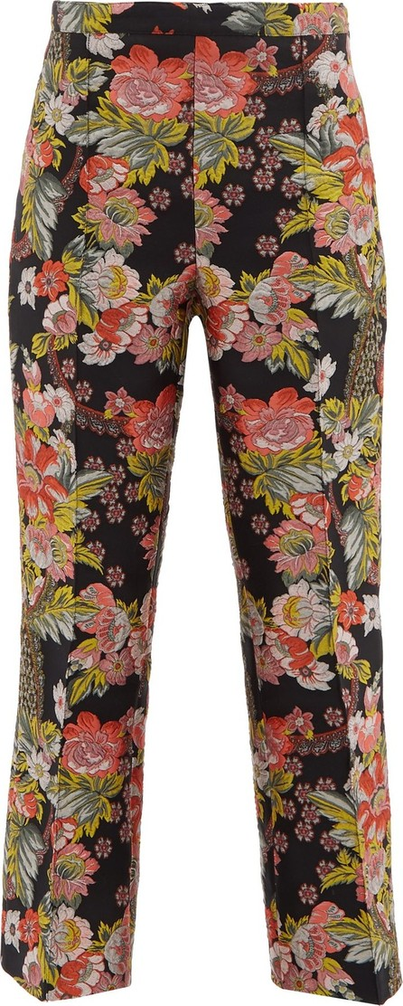 Andrew Gn Kick-flare floral-brocade trousers