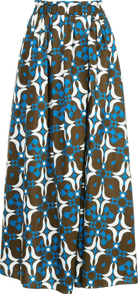 Astraet Printed midi full skirt
