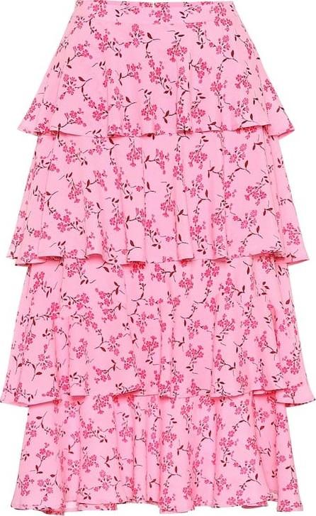 Baum und Pferdgarten Exclusive to Mytheresa – Scarlet floral midi skirt