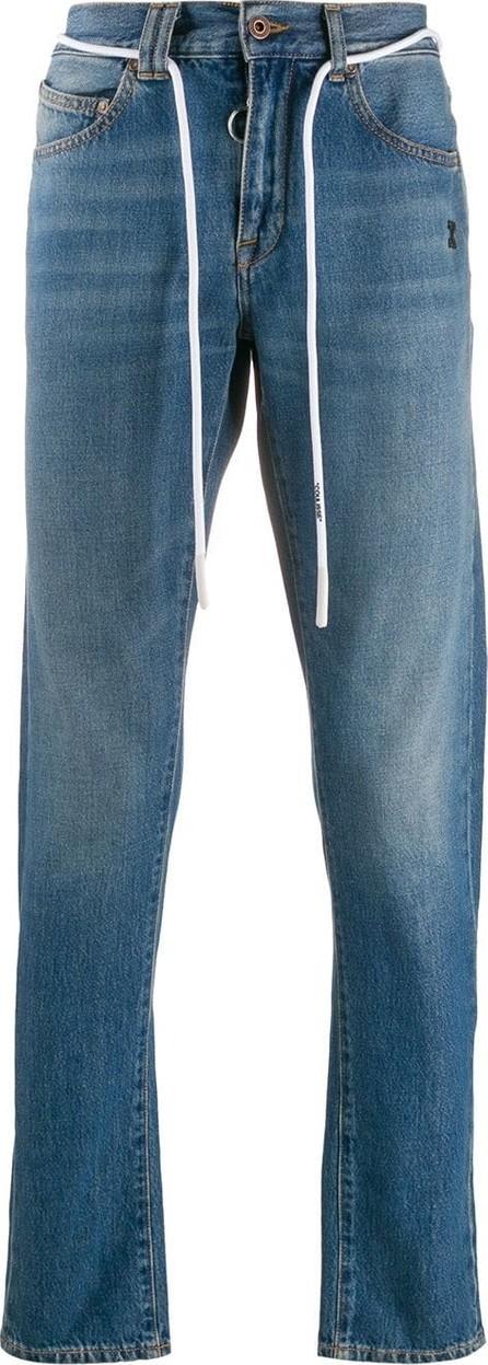 Off White Drawstring belt slim-fit denim jeans