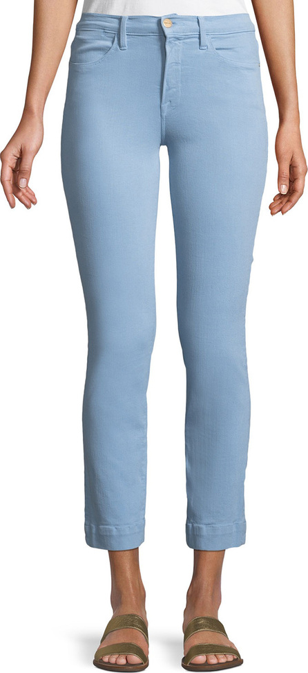 FRAME DENIM Le High Straight-Leg Ankle Jeans with Blind Stitch