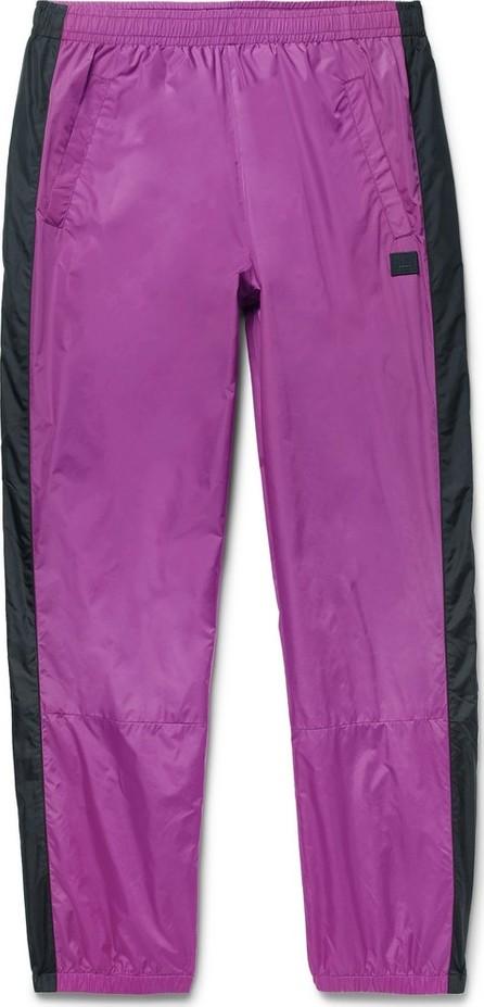 Acne Studios Tapered Logo-Appliquéd Striped Nylon Track Pants