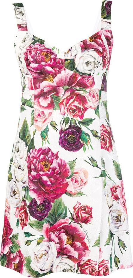 Dolce & Gabbana Peony print bodycon dress