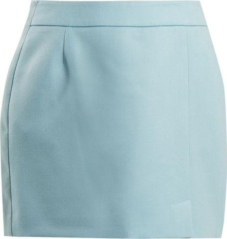 Bella Freud Alexa wool-crepe mini skirt