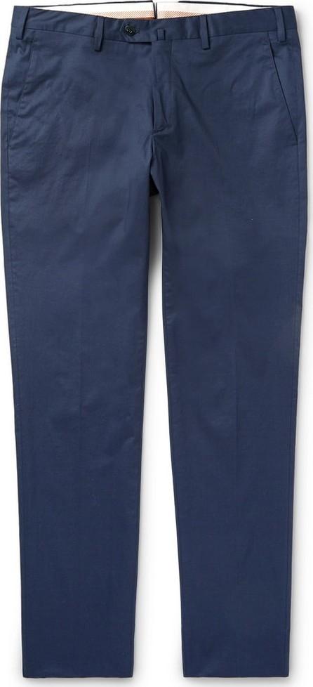 Loro Piana Navy Slim-Fit Stretch-Cotton Twill Trousers