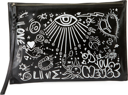 Rebecca Minkoff Graffiti Zip Clutch Bag
