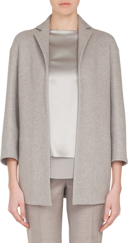 Akris Temel Notched-Lapel Snap-Close Cashmere Jersey Jacket
