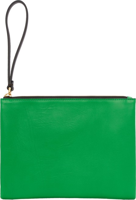 Marni Beige & Green Leather Pouch
