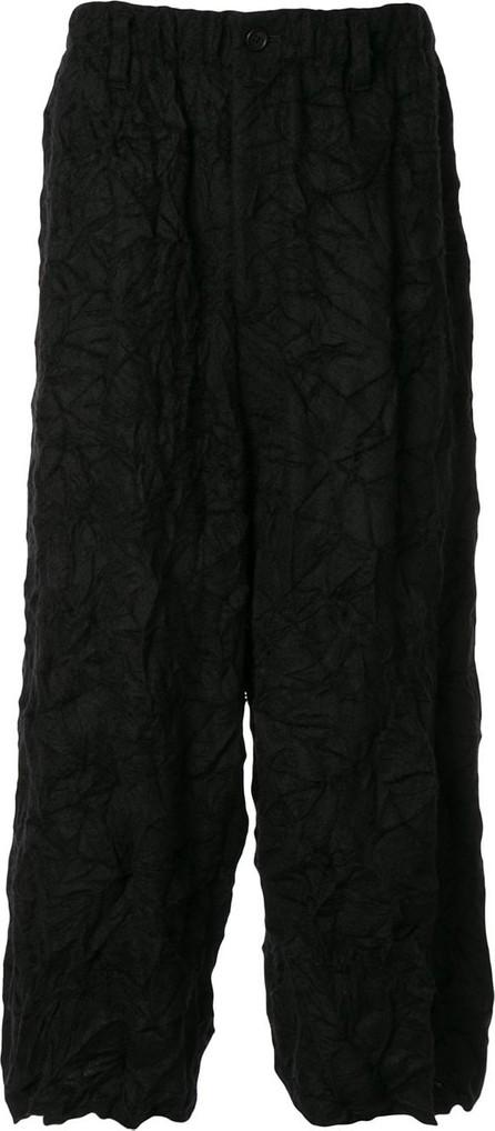 Yohji Yamamoto Crinkle-effect cropped trousers
