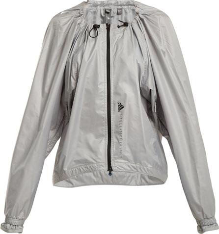 Adidas By Stella McCartney Run Adizero gathered performance jacket