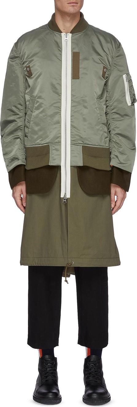 Sacai MA-1 fishtail parka jacket