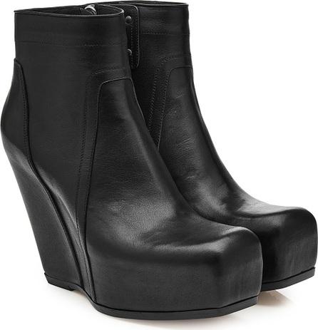 Rick Owens Leather Platform Wedge Boots