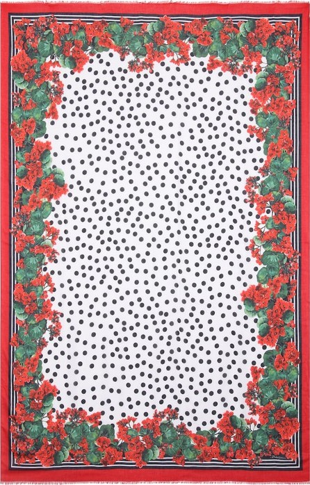 Dolce & Gabbana Printed cashmere-blend scarf