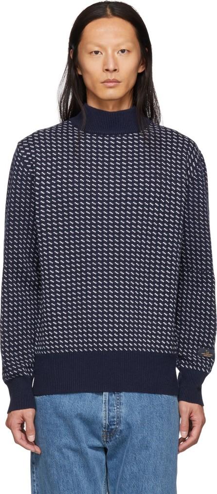 Aimé Leon Dore Navy Birdseye Knit Sweater