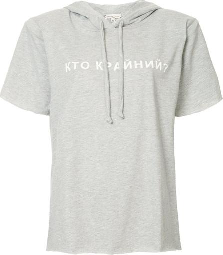 Natasha Zinko Short sleeved printed hoodie