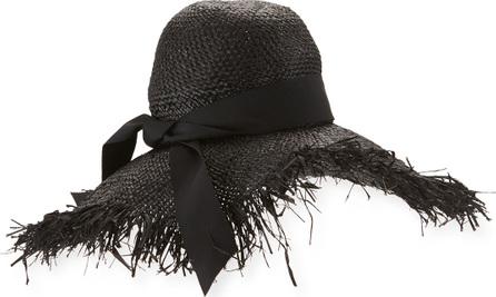 Gigi Burris Éte Raffia Sun Hat, Black
