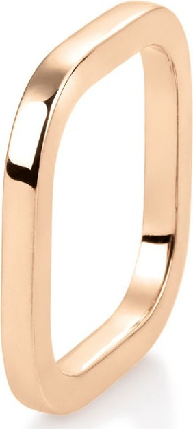 GINETTE NY 18k Rose Gold Square Ring, Size 7