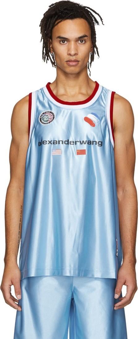 Alexander Wang Blue High Shine Tank Top