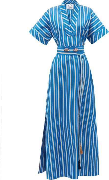 Evi Grintela Mamounia V-neck striped dress