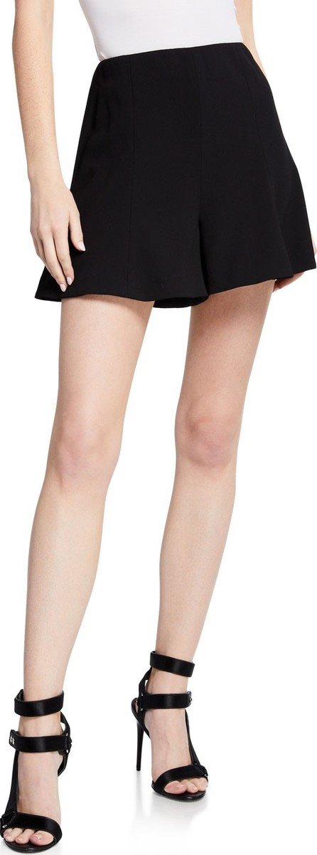 Alice + Olivia Keira High-Waist Flared Shorts