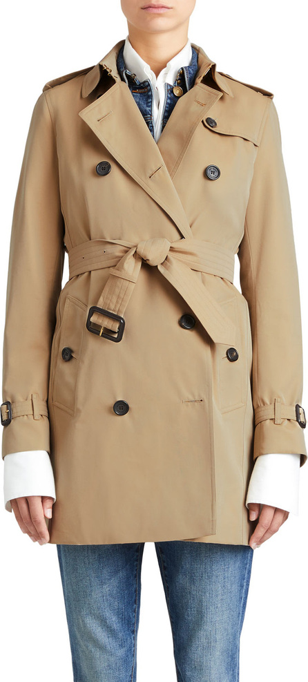 Burberry London England The Kensington Mid-Length Heritage Trench Coat, Honey