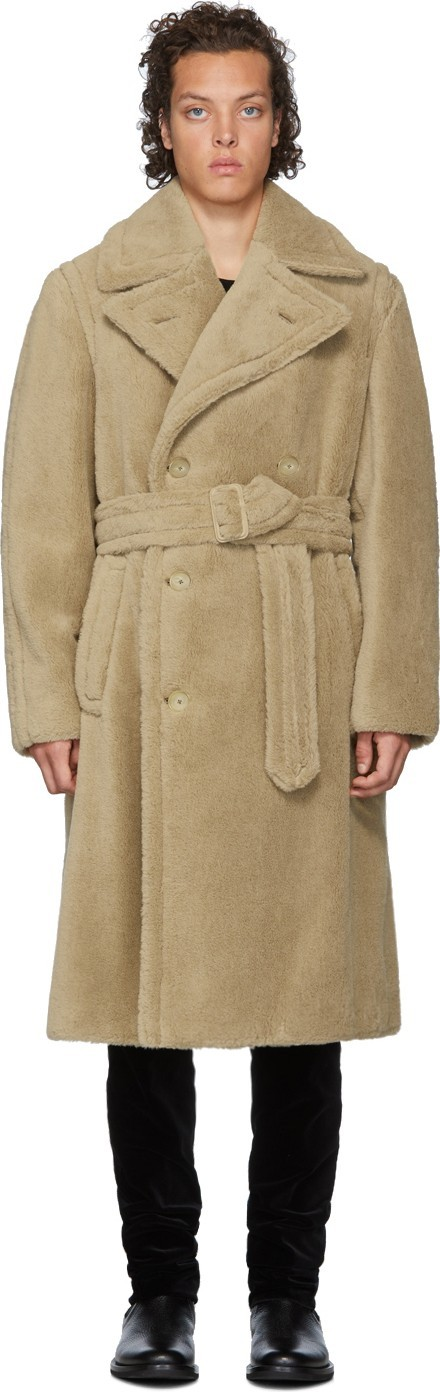Ralph Lauren Purple Label Tan Alpaca-Blend Cuddle Coat
