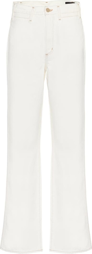 GOLDSIGN High-rise cropped wide-leg jeans