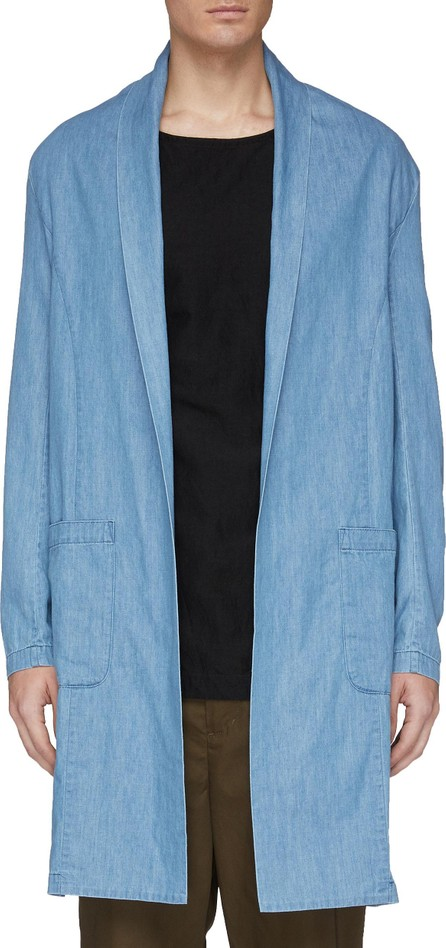 ATTACHMENT Shawl lapel chambray open coat