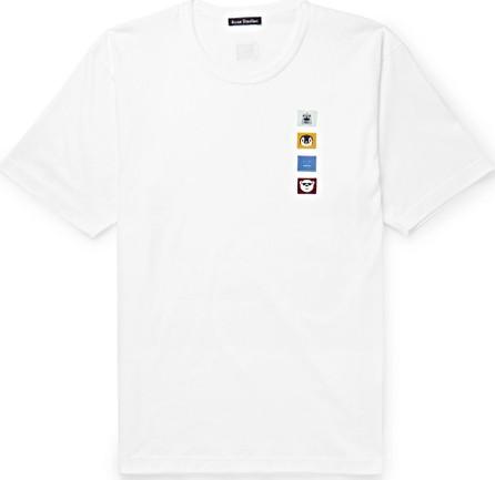 Acne Studios Appliquéd Cotton-Jersey T-Shirt