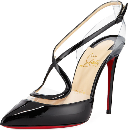 Christian Louboutin Cupidetta Leather and PVC Red Sole Pump