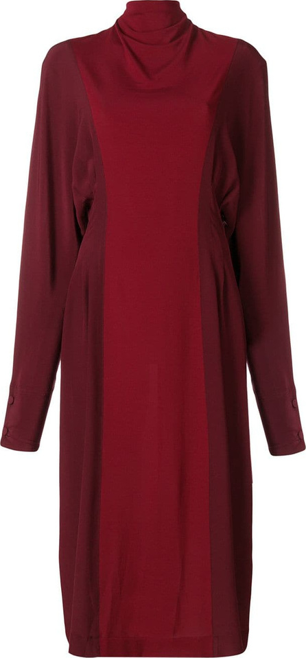 Victoria Beckham Two tone roll neck dress