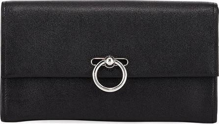 Rebecca Minkoff Jean Leather Clutch Bag - Silvertone Hardware