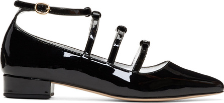 Alexachung Black Patent Bow Ballerina Flats