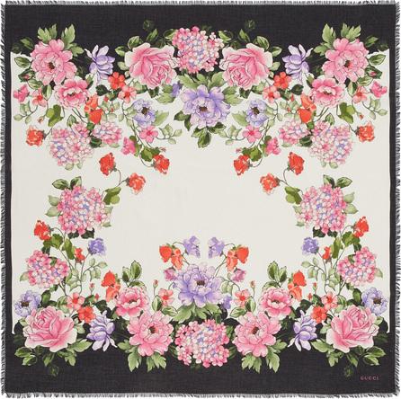 Gucci 'Rising Flower' print modal-silk scarf
