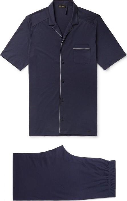 Hanro Piped Cotton-Jersey Pajama Set