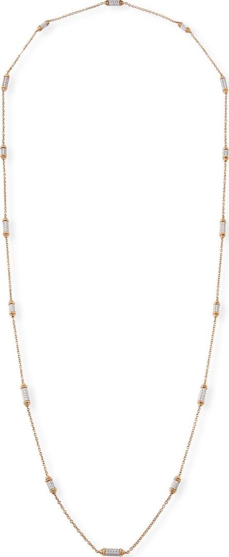Picchiotti 18k Rose Gold Diamond Pave Station Necklace
