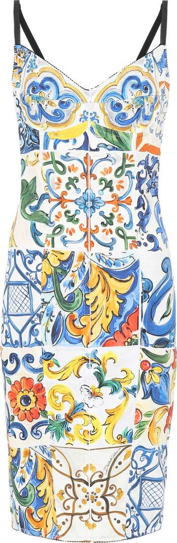 Dolce & Gabbana Majolica silk-blend dress