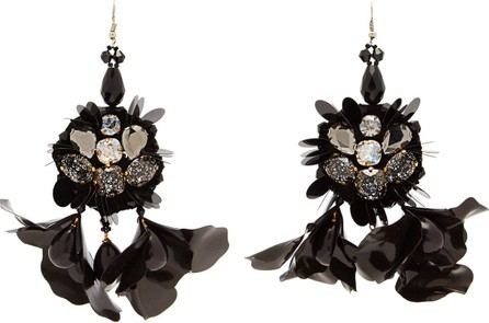Biyan Terah beaded flower earrings