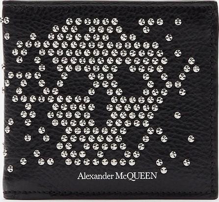 Alexander McQueen Stud skull leather bi-fold wallet