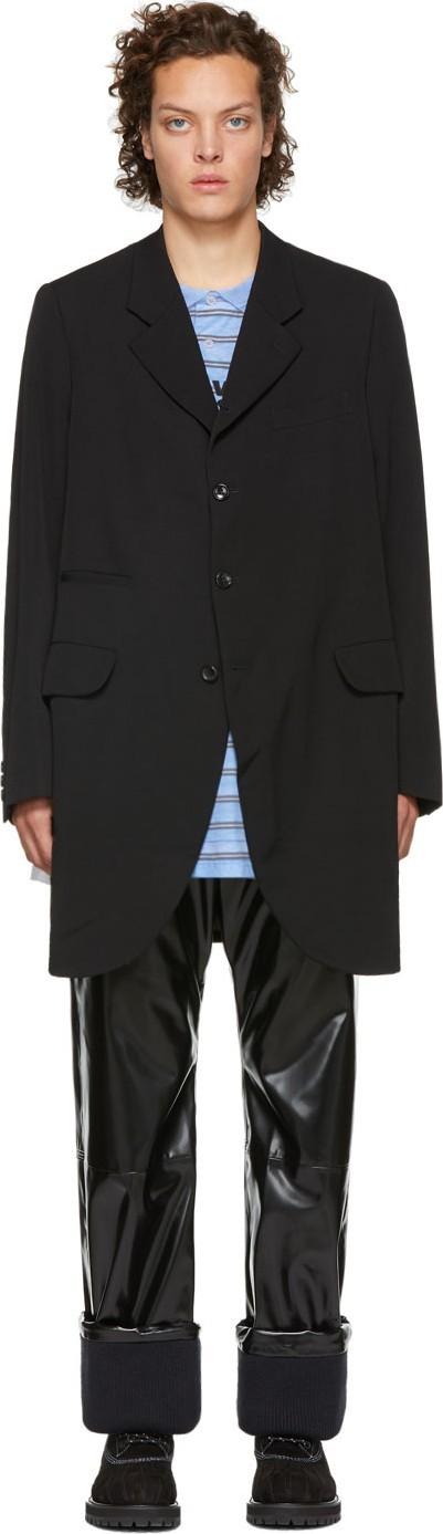 Comme Des Garçons Homme Plus Black Open Sides Coat