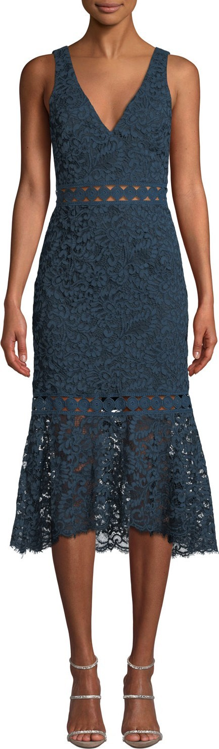 Bardot Sienna Lace Sleeveless Trumpet Dress