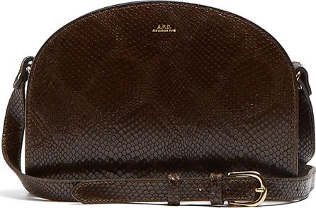 A.P.C. Half Moon snakeskin-effect leather cross-body bag
